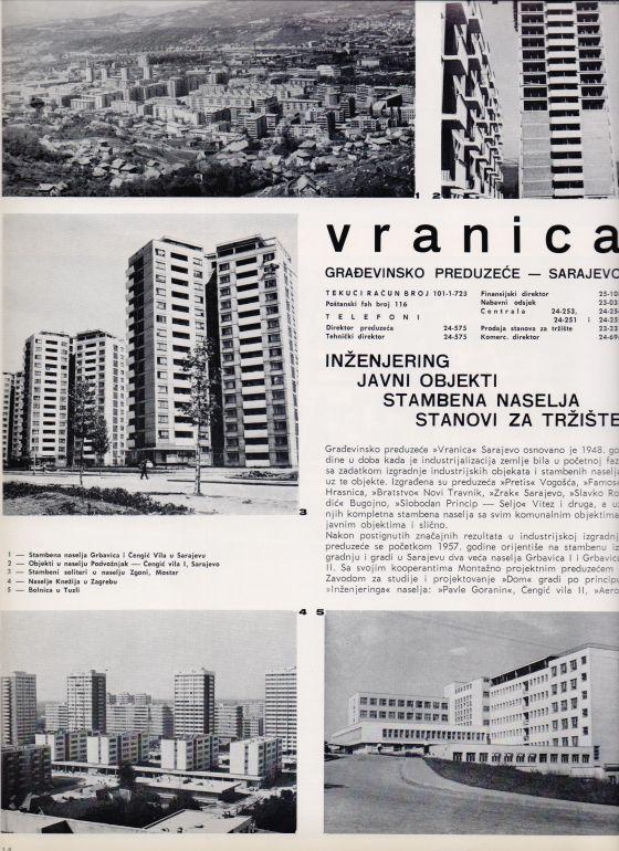 Gradj pred VRANICA Sarajevo 1969 4